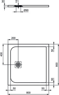 IS_UltraFlatS_K8214_PrListDrw_NN_shower-tray80x80